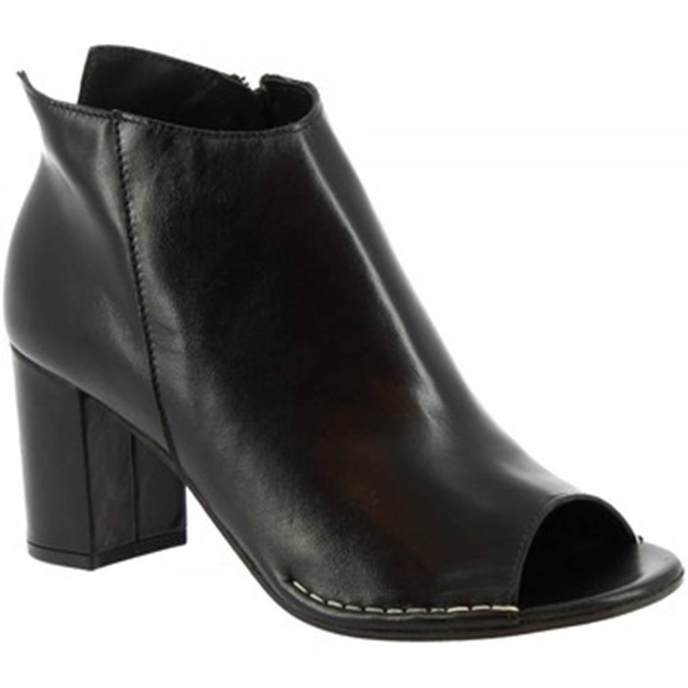Leonardo Shoes Čižmičky Leonardo Shoes  U204 TANGERI NERO