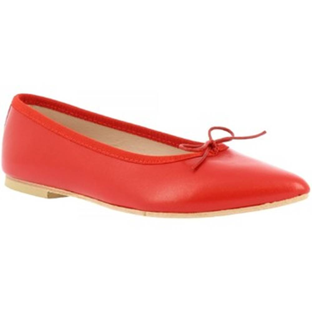 Leonardo Shoes Balerínky/Babies  1178 NAPPA ROSSO