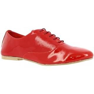 Derbie Leonardo Shoes  936-80 NAPLAK ROSSO