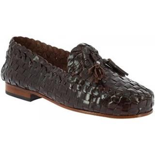 Mokasíny Leonardo Shoes  590 T. MORO