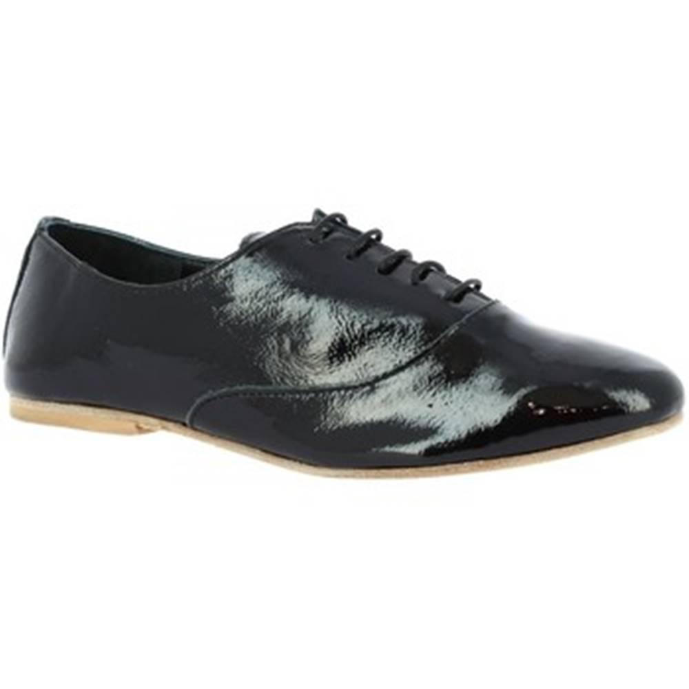 Leonardo Shoes Derbie Leonardo Shoes  936-80 NAPLAK NERO
