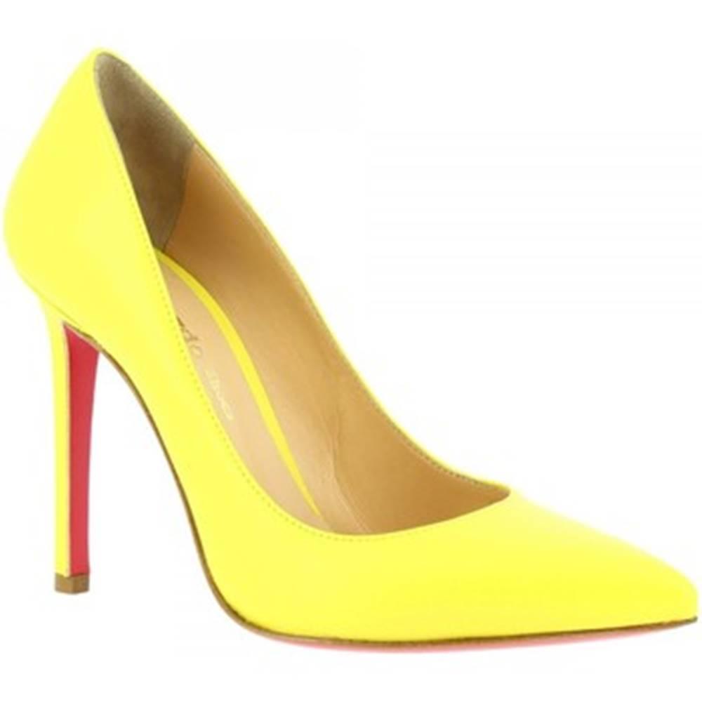 Leonardo Shoes Lodičky Leonardo Shoes  7105 NAPPA GIALLO