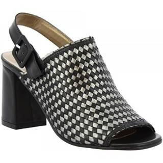 Sandále Leonardo Shoes  S213 KONS NERO