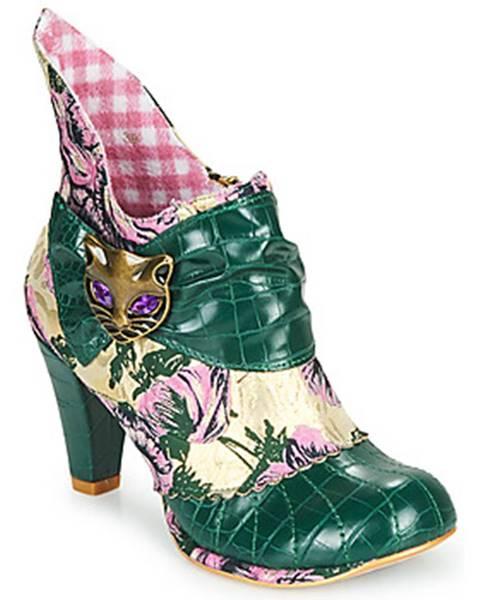 Zelené topánky Irregular Choice