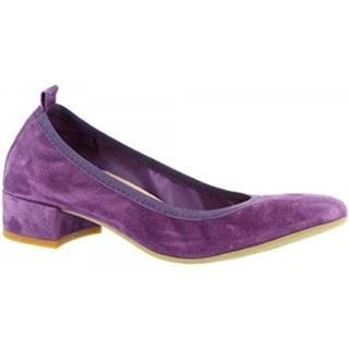 Balerínky/Babies Leonardo Shoes  2381/JESSICA CAMOSCIO VIOLA