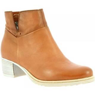 Čižmičky Leonardo Shoes  128207 CARAMEL