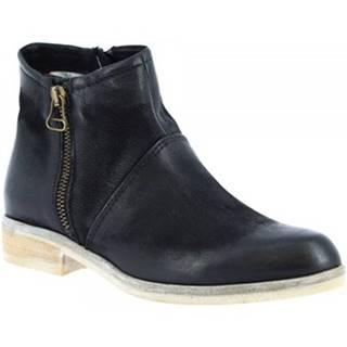 Polokozačky Leonardo Shoes  767215 NERO