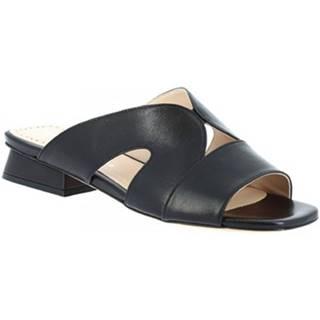 Šľapky Leonardo Shoes  G13 NAPPA NERO