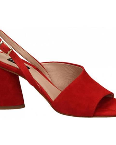 Červené topánky Tosca Blu
