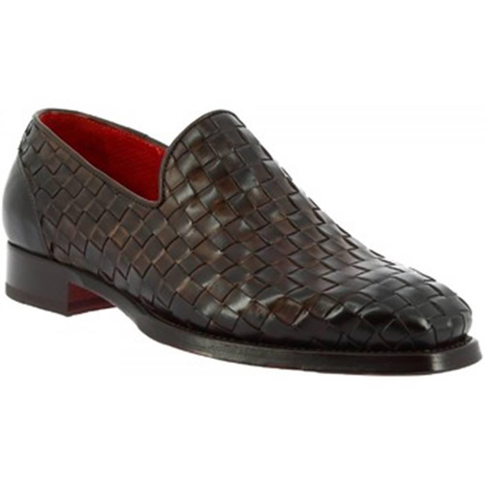 Leonardo Shoes Mokasíny Leonardo Shoes  9580E20 VITELLO DELAVE MORO