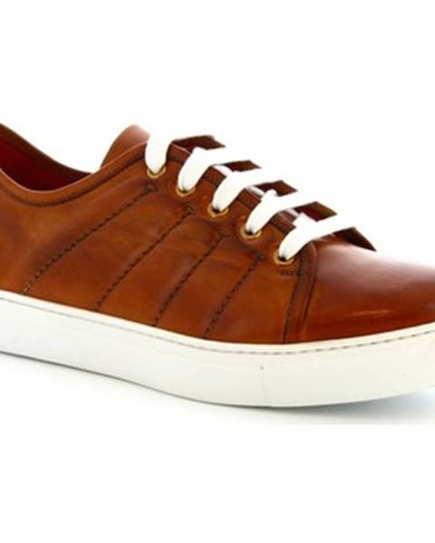 Hnedé tenisky Leonardo Shoes