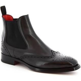 Polokozačky Leonardo Shoes  9140/19 TOM VITELLO DELAVE GRIGIO