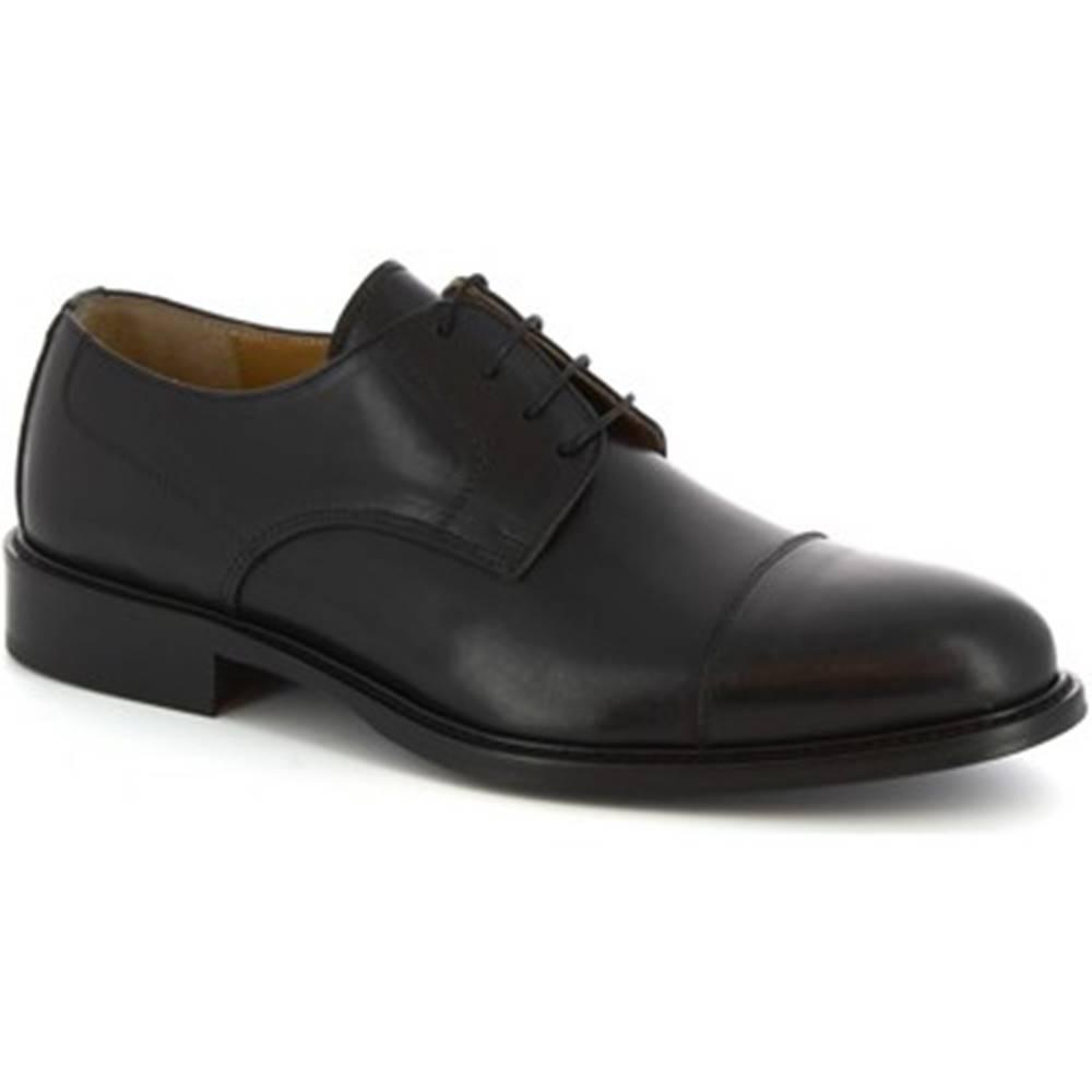 Leonardo Shoes Derbie Leonardo Shoes  109 VITELLO NERO