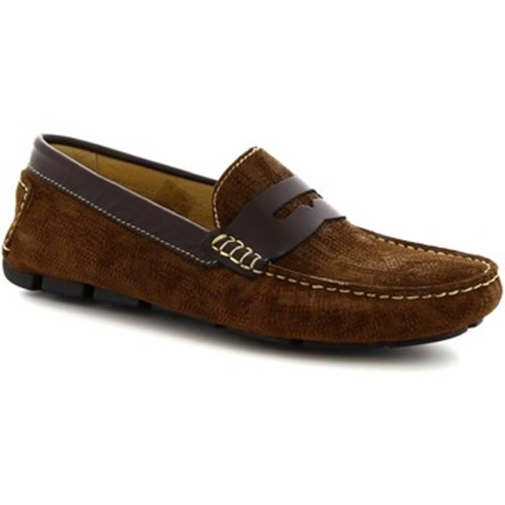 Leonardo Shoes Mokasíny Leonardo Shoes  504 NIAGARA CRUST RUST