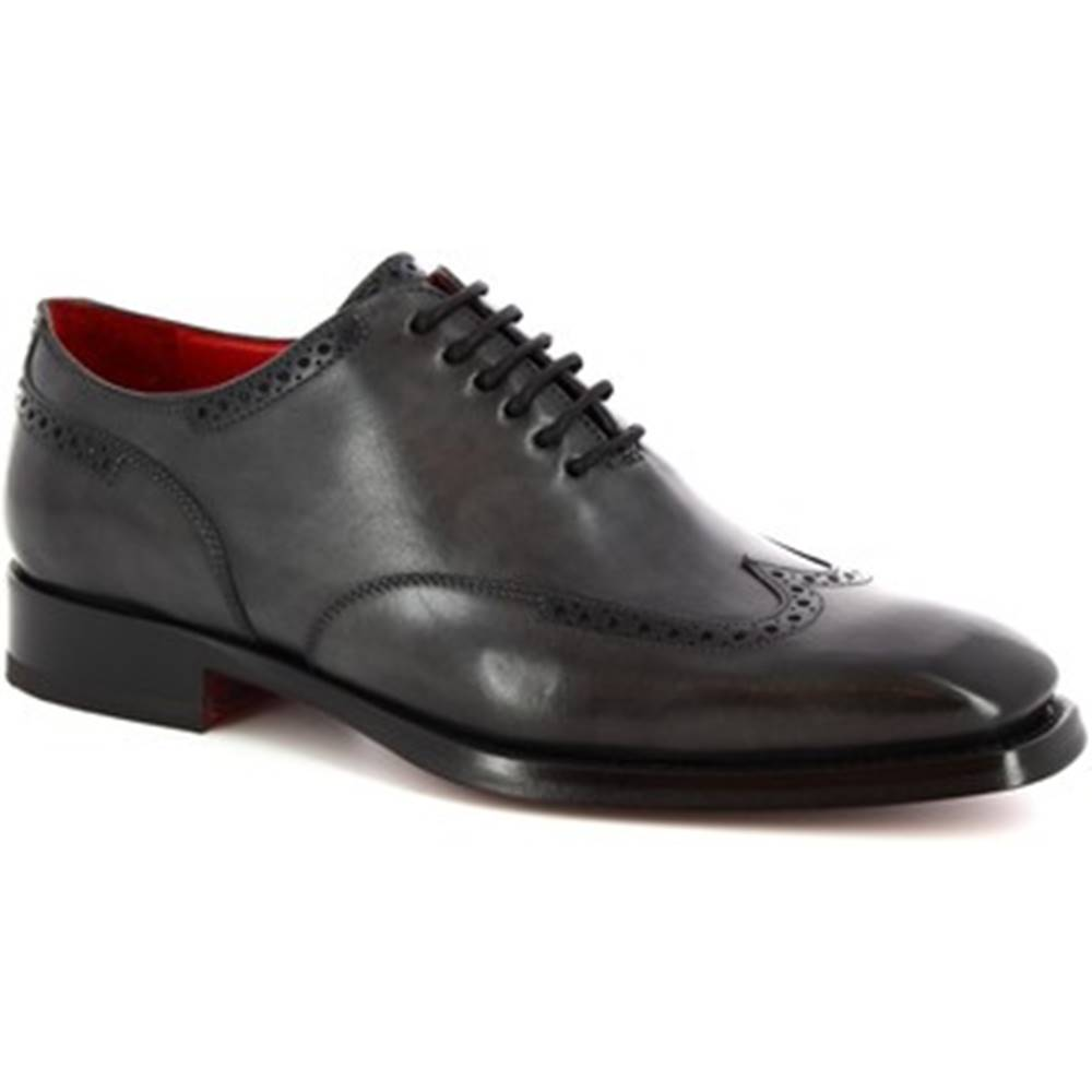 Leonardo Shoes Richelieu Leonardo Shoes  9120/19 TOM VITELLO DELAVE GRIGIO