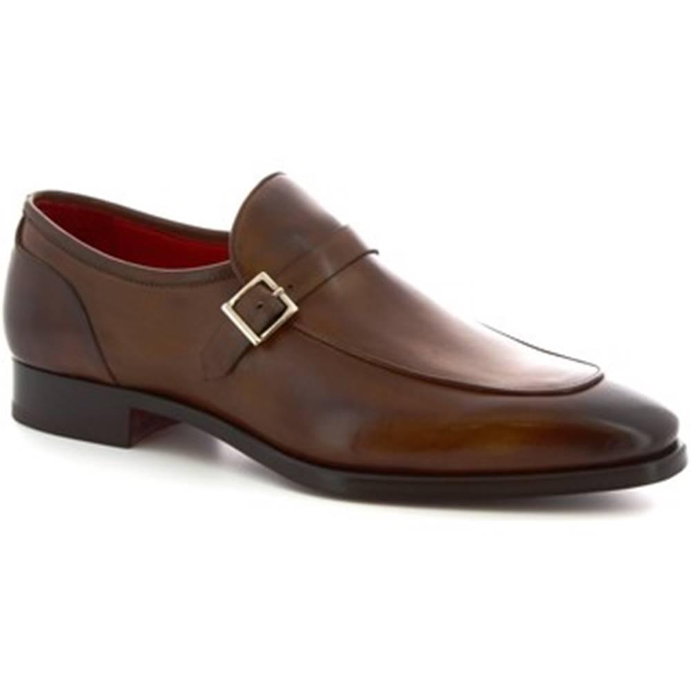 Leonardo Shoes Mokasíny Leonardo Shoes  9053/19 TOM VITELLO DELAV? BRANDI
