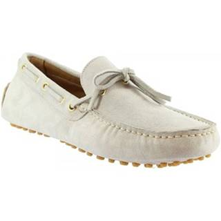 Mokasíny Leonardo Shoes  3041 CAMOSCIO FUMO