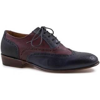 Derbie Leonardo Shoes  PINA 037 BLU/BORDO