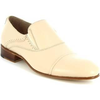 Mokasíny Leonardo Shoes  34530-E F. 345 CUOIO FILETTO NATURALE