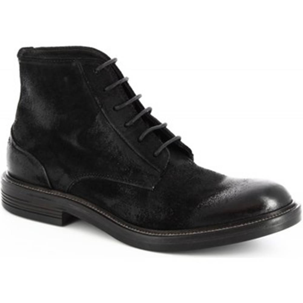 Leonardo Shoes Polokozačky Leonardo Shoes  M681-14 ONTARIO NERO