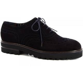Derbie Leonardo Shoes  M631-5130 VELUR BLU
