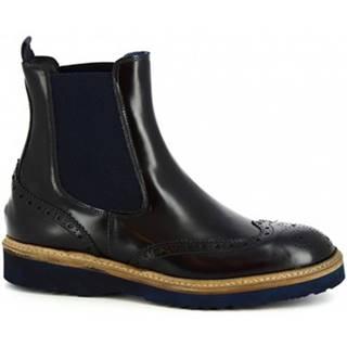 Polokozačky Leonardo Shoes  M631-05 DALLAS BLU(391)