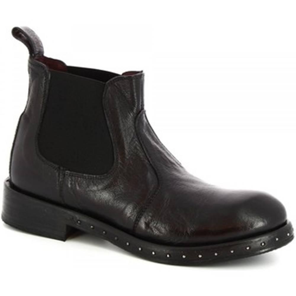 Leonardo Shoes Polokozačky Leonardo Shoes  6918/1 MATRIX NERO