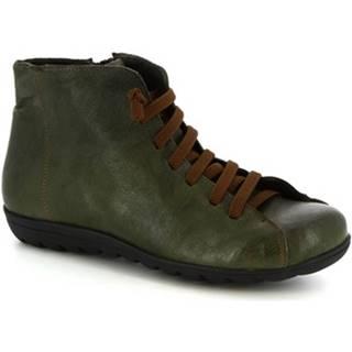 Polokozačky Leonardo Shoes  2177 STROPICCIATO VERDE