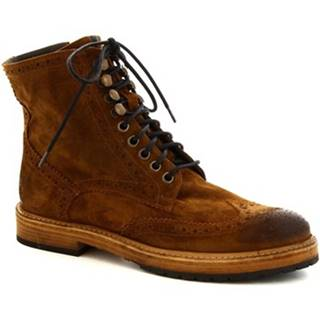 Polokozačky Leonardo Shoes  4730 CUOIO