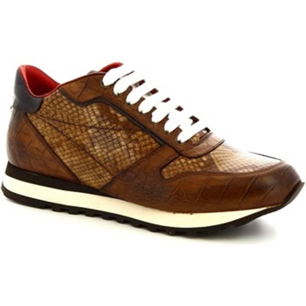 Leonardo Shoes Nízke tenisky Leonardo Shoes  9234/19 COCCO AV BRANDY