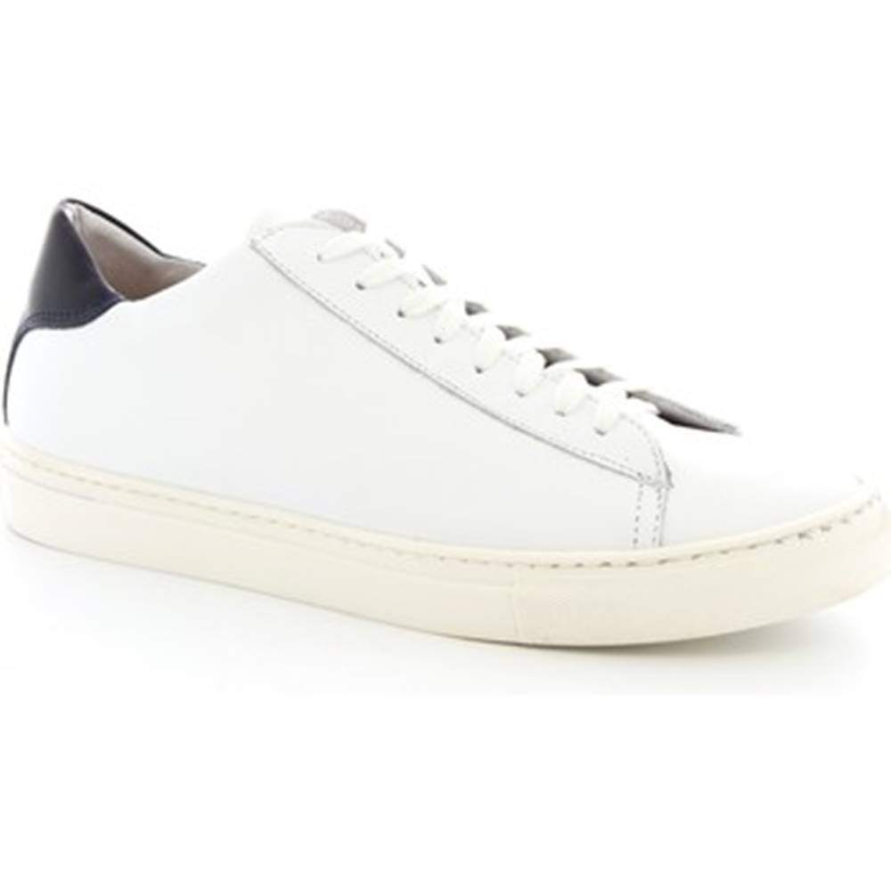 Leonardo Shoes Nízke tenisky Leonardo Shoes  SMOOT-B VITELLO BIANCO BLU