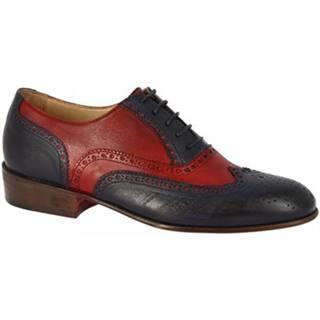Derbie Leonardo Shoes  PINA 037 BLU/ROSSO