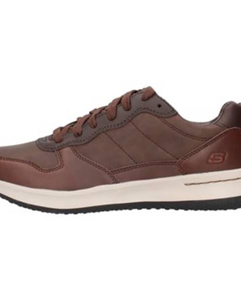 Hnedé tenisky Skechers