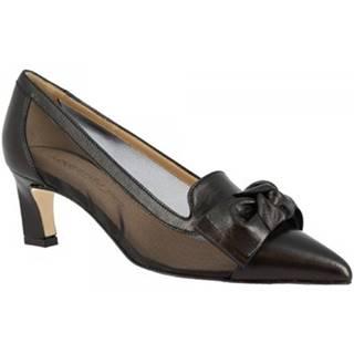 Lodičky Leonardo Shoes  HETTIE NAPPA NERA