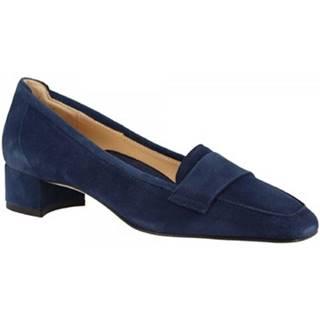 Mokasíny Leonardo Shoes  1324 CAMOSCIO NAVY