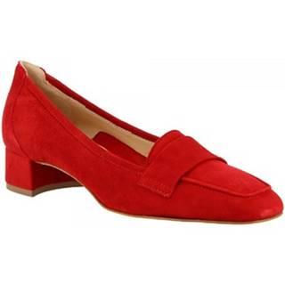 Mokasíny Leonardo Shoes  1324 CAMOSCIO ROSSO