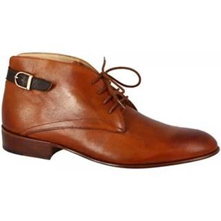 Nízke čižmy Leonardo Shoes  PINA 045 T. MORO/CUOIO