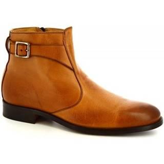 Polokozačky Leonardo Shoes  07034/FORMA 40 GOLF BRANDY