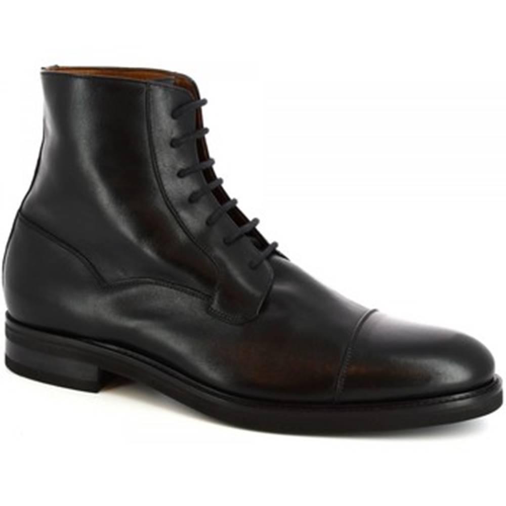 Leonardo Shoes Polokozačky Leonardo Shoes  07397/FORMA 40 FULL NERO