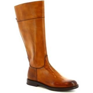 Čižmy do mesta Leonardo Shoes  9225/19 VITELLO DELAVE SIENA
