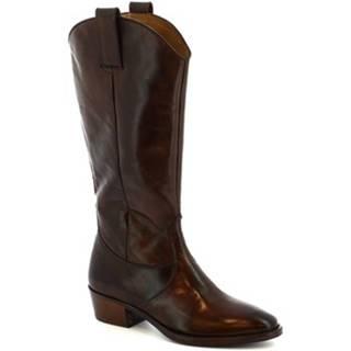 Čižmy do mesta Leonardo Shoes  9229/19 VITELLO DELAVE T.MORO