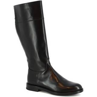 Čižmy do mesta Leonardo Shoes  9225/19 VITELLO NERO