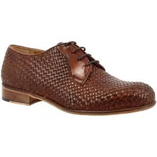 Derbie Leonardo Shoes  D400_5 VITELLO CUOIO