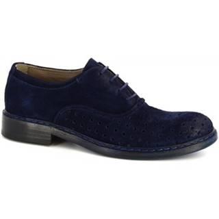 Derbie Leonardo Shoes  M681-23 WASHSAVANA BLU