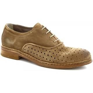 Derbie Leonardo Shoes  M681-23 WASHSAVANA HAVANA