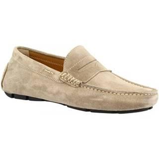 Mokasíny Leonardo Shoes  8309 SOFTY COBBLESTONE