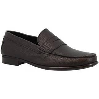 Mokasíny Leonardo Shoes  851 MOUSSE NERO