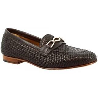 Mokasíny Leonardo Shoes  TOR05 VITELLO MORO