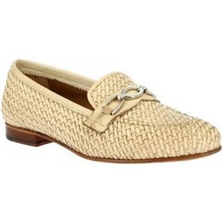 Mokasíny Leonardo Shoes  TOR05 VITELLO NAT
