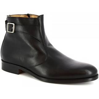 Polokozačky Leonardo Shoes  07034/FORMA 40 GOLF NERO
